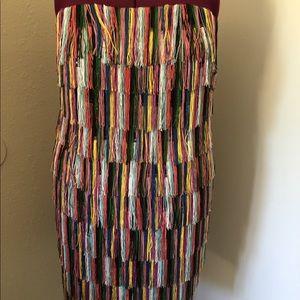 Eloquii Dresses - Brand new strapless fringe dress